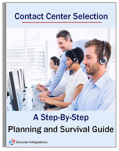 image of an eguide to selecting the right contact center